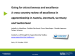 Going for attractiveness and excellence : A cross-country review of excellence in apprenticeship in Austria, Denmark, Germany and Switzerland