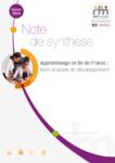Apprentissage en Ile-de-France : bilan et pistes de développement