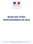 Bilan des titres professionnels en 2018