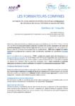 Les formateurs confinés : impacts de la crise sanitaire Covid-19 sur les pratiques pédagogiques des formateurs des réseaux CFA Pilotes et Associés de l'ANFA