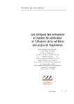 Les politiques des entreprises en matière de certification et l'utilisation de la validation des acquis de l'expérience