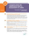 L'identification des compétences dans le recrutement de cadres