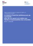 La mission d'insertion professionnelle de l'université - Bilan dix ans après la loi relative aux libertés et responsabilités des universités: rapport à madame la ministre de l'enseignement supérieur, de la recherche et de l'innovation