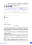Accord du 18 décembre 2020 relatif à l'activité réduite pour le maintien dans l'emploi (ARME)