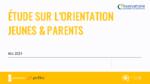 Orientation professionnelle. Les canaux de communication utilisés par les jeunes et les parents