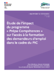 Etude de l'impact du programme « Prépa Compétences » sur l'accès à la formation des demandeurs d'emploi dans le cadre du PIC