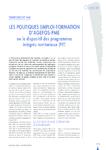 Territoires et PME, les politiques emploi-formation d'AGEFOS-PME