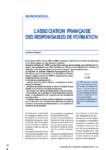 Des propositions : l'Association française des responsables de formation