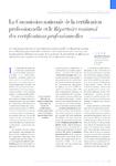 La Commission nationale de la certification professionnelle et le Répertoire national des certifications professionnelles