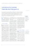 Les enjeux du nouveau code des marchés publics - Borel Patri - application/pdf