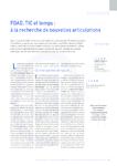 FOAD, TIC et temps à la recherche de nouvelles articulations - application/pdf