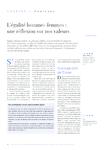L'égalité hommes-femmes une réflexion sur nos valeurs - Juli - application/pdf