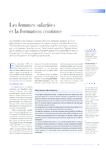 Les femmes salariées et la formation continue - Brocard - Cl - application/pdf