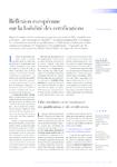 Réflexion européenne sur la lisibilité des certifications