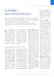 Le FAFSEA entre filière et territoire - Gautier-Moulin Patri - application/pdf
