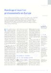 Handicap et insertion professionnelle en Europe