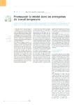Promouvoir la mixité dans les entreprises de travail temporaire
