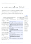 "Projet européen Equal ""Prélude"""