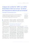 """L'impact de la réforme """"LMD"""" sur l'offre de formation dans l - application/pdf"""