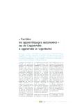 """""""Faciliter les apprentissages autonomes"""" ou de l'apprendre à - application/pdf"""