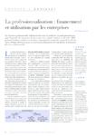 La professionnalisation financement et utilisation par les e - application/pdf