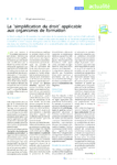 Réglementation la simplification du droit applicable aux org - application/pdf
