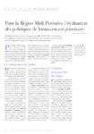 Pour la Région Midi-Pyrénées, l'évaluation des politiques de formation est prioritaire