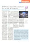 Quick France professionnalise ses directeurs dans son école de management