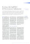Le réseau des Carif-Oref de l'observation à l'information - - application/pdf