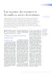 Une expertise, des ressources et des outils au service des t - application/pdf