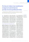 Portées et limites d'une labellisation d'organismes de formation par des branches professionnelles