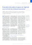 Evaluation des aides et appuis de l'Agefiph aux contrats de professionnalisation
